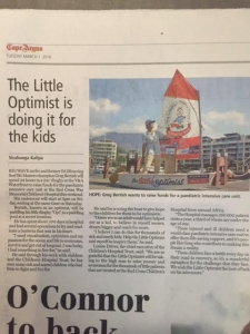 The Little Optimist in the Cape Argus, March 2016